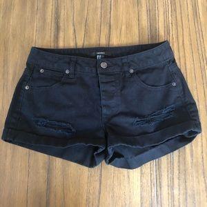 Forever 21 rolled hem distressed denim shorts